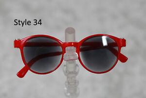 1/3 1/4 BJD SD 60cm 45 sun glasses sunglasses Dollfie Red Black lens Style 34