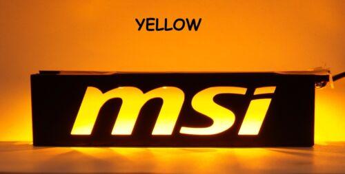 "MSI 3.5/"" Vassoio per Drive Bay STAFFA Filler COMPUTER PC Modding MOD LED Custom MOD"