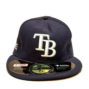 quality design 26459 f38bf Image is loading NEW-ERA-TAMPA-BAY-RAYS-59Fifty-Size-7-