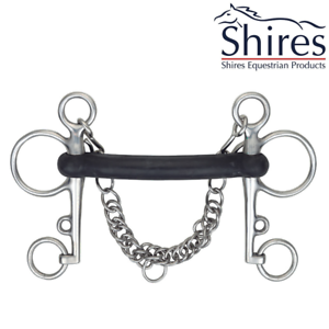 Shires Hard Rubber Mouth Pelham