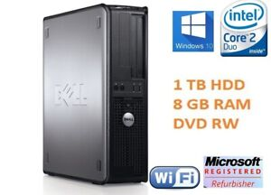Dell-1TB-8GB-ram-core-2-duo-tour-pc-windows-10-ordinateur-bureau-dvd-rw-1YR-gtie