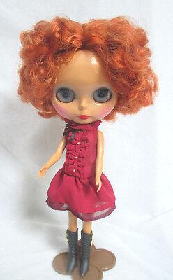 "Takara 12"" Neo Blythe Black Skin Short Hair Nude Doll from Factory TBO314"