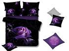 Purple ROSE Super King Size Bed Duvet/Doona/Quilt Cover Set New