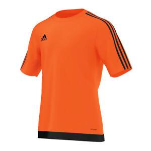 La imagen se está cargando Adidas-Estro-15-Camiseta-manga-corta-ninos- naranja- f4592949eb44f
