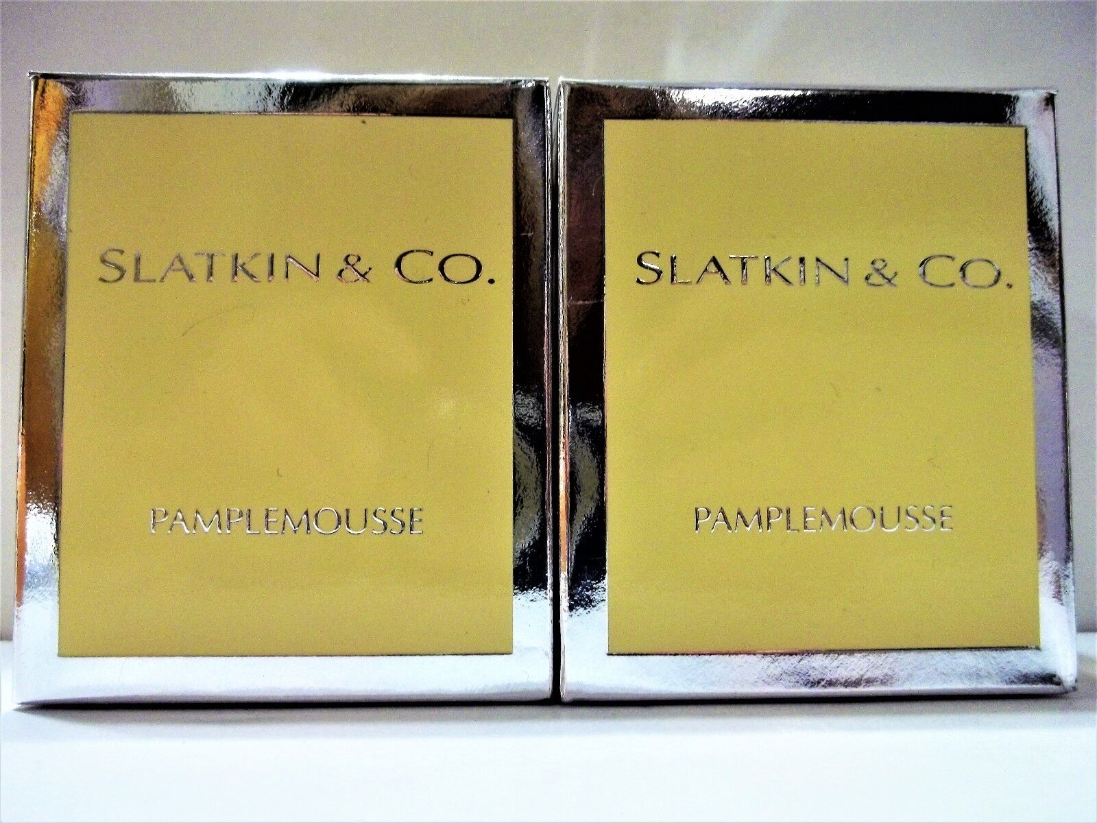 Bath Body Works Slatkin & Co. PAMPLEMOUSSE (grapefruit) Candle, 6 oz., NEW, x 2