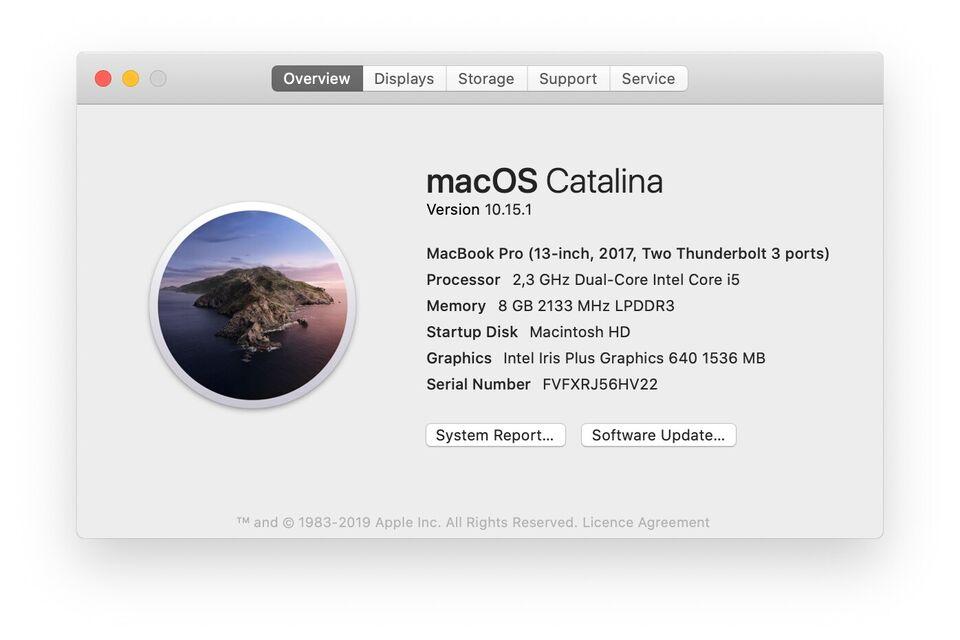 "MacBook Pro, 13"" 2017, 2,3 GHz"