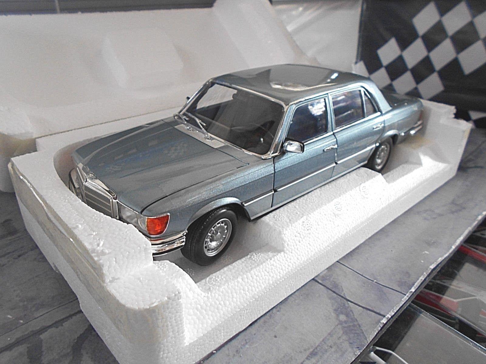 MERCEDES BENZ CLASSE S w116 450 SEL 6.9 1976 azul azul MET. Norev NUOVO 1 18