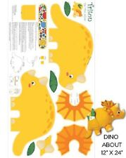 Jungle Club Triton Dinosaur Pillow Fabric Quilting Panel - Benartex