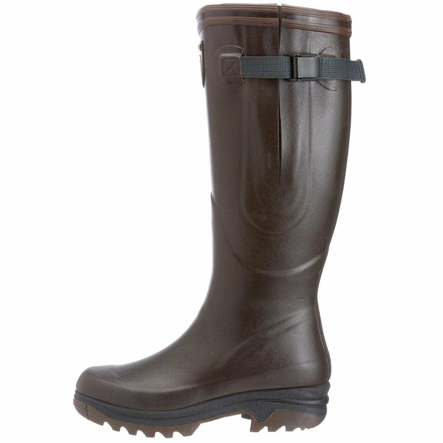 Offer Aigle Wellies Course 2 Vario - Jersey Lining - Brown