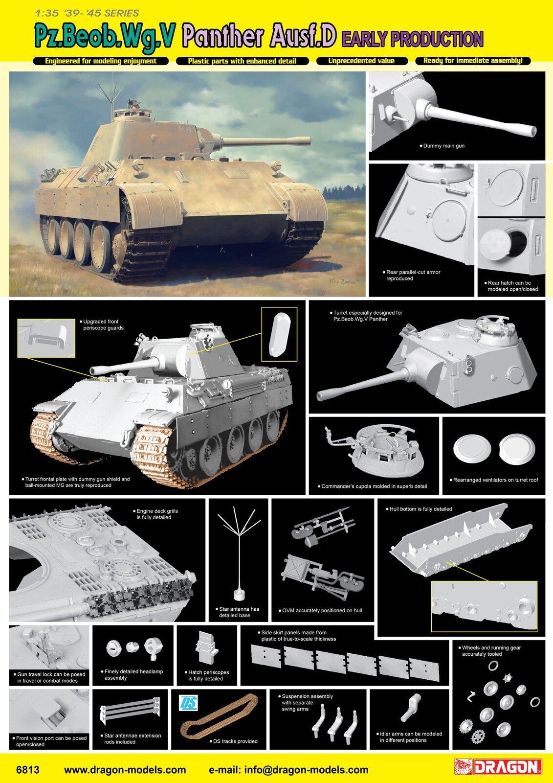 Dragon 1 35 Pz.Beob.Wg. V Ausf. D Early Production Plastic Model Kit