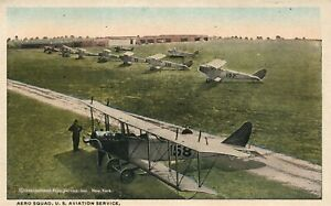 US-AVIATION-SERVICE-AERO-SQUAD-VINTAGE-POSTCARD-early-aviation