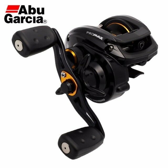 Abu Garcia Baitcaster Reels - Pro Max 3 PMAX3 + 150m AMBER Line - Left or Right