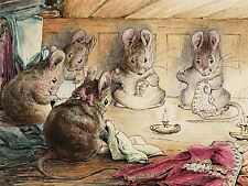 HELEN BEATRIX POTTER LADY MOUSE IN MOB CAP ART PRINT POSTER PICTURE LF242