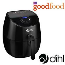 Dihl Black 3.2L Digital LED Air Fryer Rapid Healthy Frying Grill Low Fat Oil