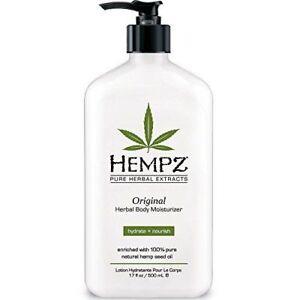 Hempz-Herbal-Original-Moisturizer-amp-After-Tan-Tanning-Lotion-17oz-New
