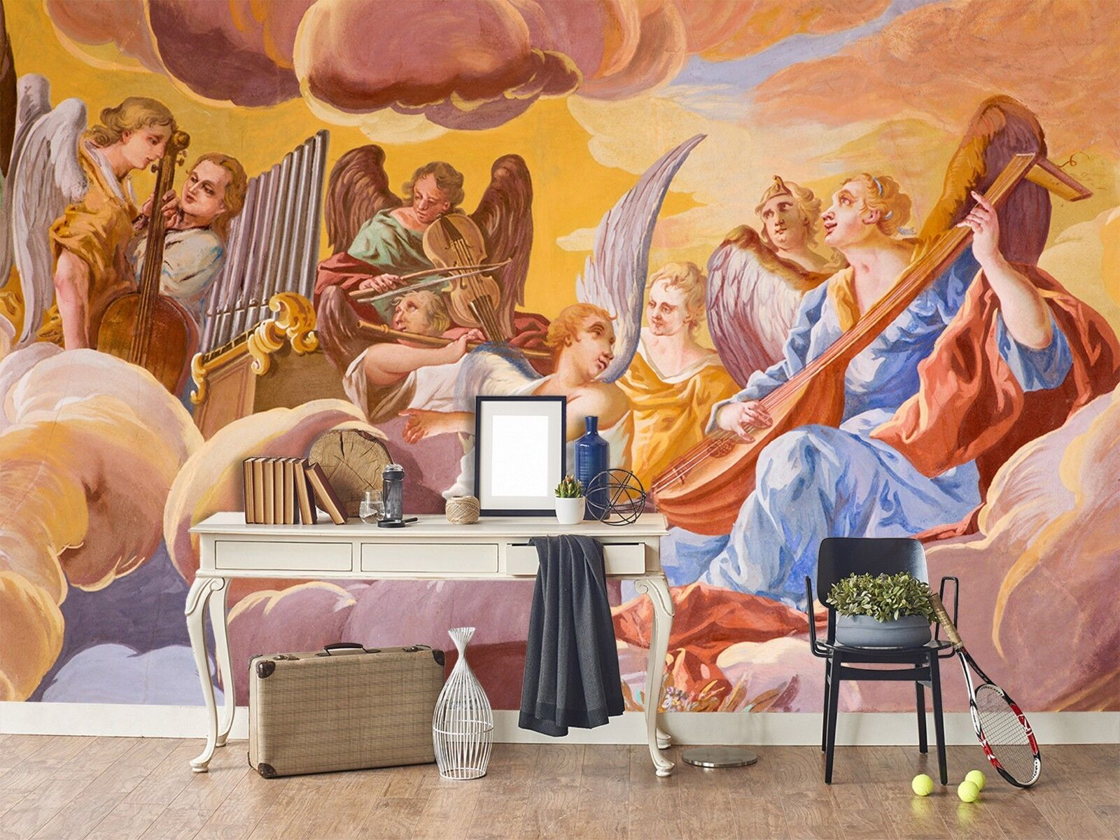 3D Clouds Heaven Band 1 Wallpaper Mural Print Wall Indoor Wallpaper Murals UK