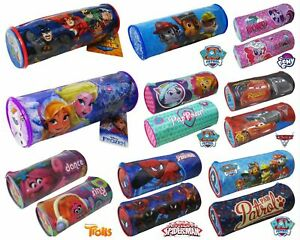 New-Kids-Boys-Girls-Official-Character-Tube-Barrel-Pencil-Case-Back-To-School