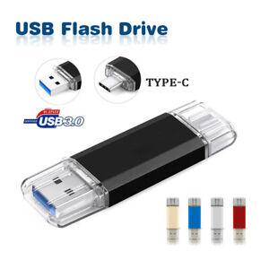 Type-C 3.0 USB Flash Drive 256GB 128GB 64GB 32GB 2in1 Chiavetta Memory Stick dei dati