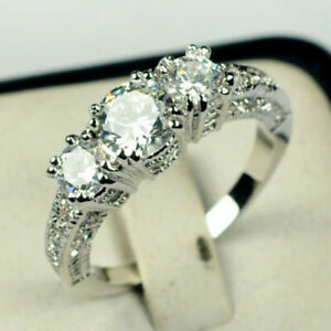 Wedding-Gifts-Oval-Cut-White-Topaz-Gemstone-Silver-Ring-Gift-Size5-6-7-8-9-10-11