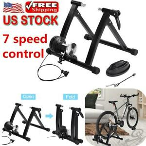 Wired-Magnetic-Bike-Bicycle-Trainer-Indoor-Stationary-Exercise-Stand-Steel-Frame