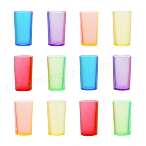 12Pcs Colorful Plastic Cups with 12 Straws Drinking 1:12 Dollhouse Miniature Toy