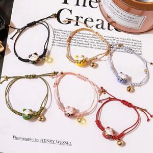 Women-Girl-Lucky-Bracelet-Lucky-Cat-Natural-Stone-Bracelet-Coin-Beaded-Bell-F9A5