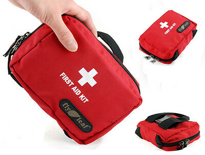 Red Outdoor Sports Empty Camping Home Medical Emergency Survival first aid kit