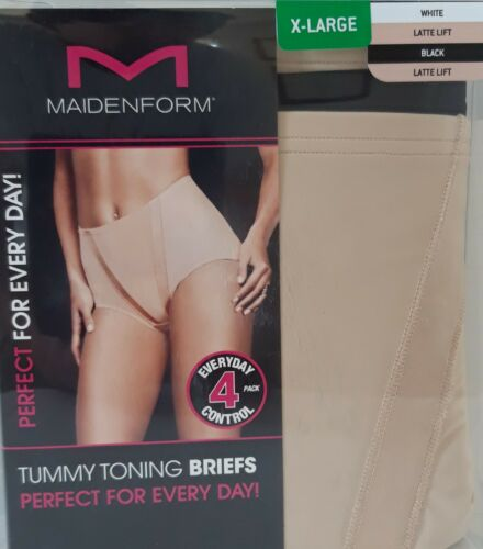 SALE Maidenform Tummy Toning 4pc Briefs Cotton Blend Everyday Wear Size M-2XL