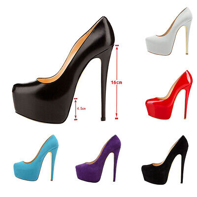 Ladies suedette concealed platform with metal stiletto high heel