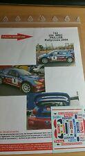 Decals promo 1/43 réf 742 Peugeot 206 wrc Pailler Rallycross 2004