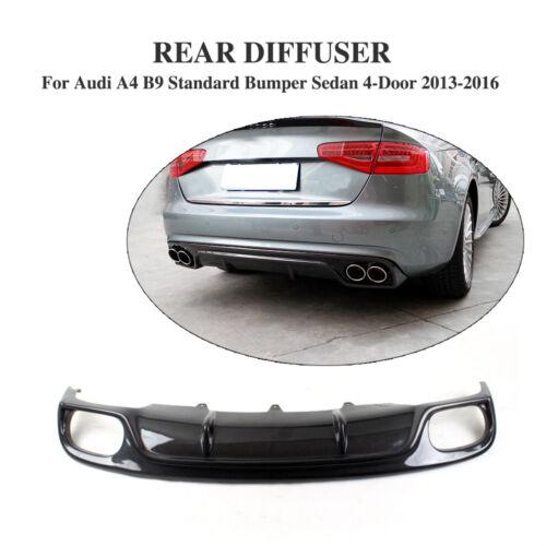 Rear Bumper Diffuser Spoiler Lips Fit For Audi A4 B9 Sedan Non-Sline 2013-2014
