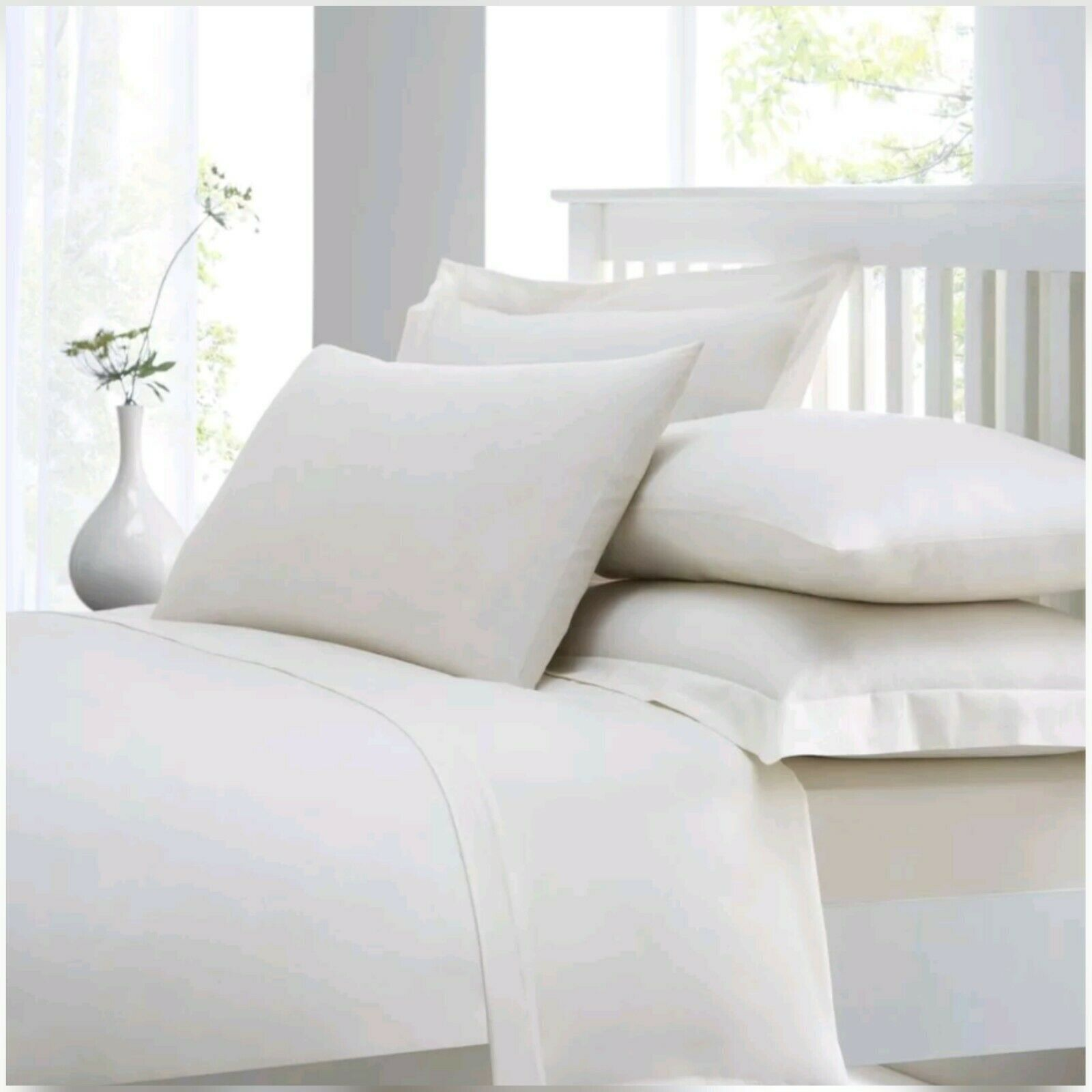 400 Thread Count 100% Egyptian Combed Cotton Extra Deep Fitted Sheet 40 cm (16 )