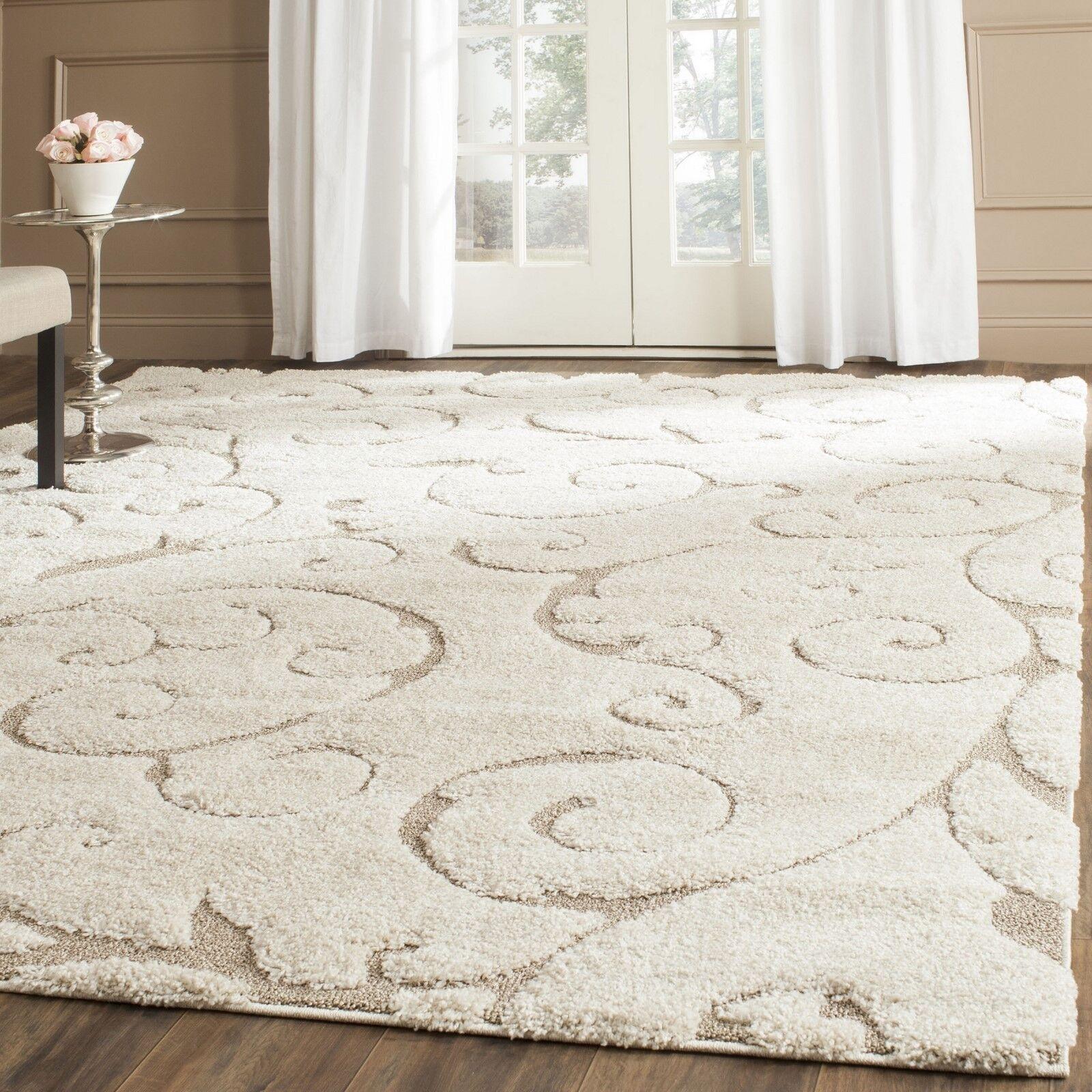 Contemporary Kitchen Rugs: Modern Area Rug Shag Carpet Floor Dining Living Room