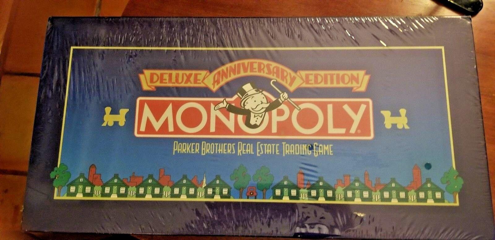 Monopoly 1985 Deluxe édition anniversaire, neuf  jamais utilisé  Nouvelle liste