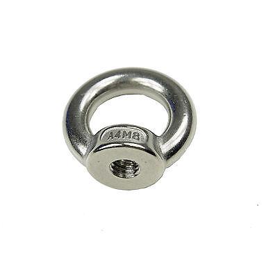 Ringmutter M6 6mm Mutter Augbolzen Öse Gewinde metrisch Edelstahl V4A rostfrei