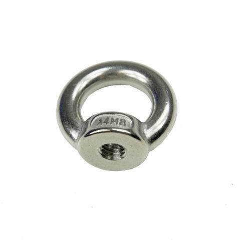 Ringmutter M12 Edelstahl V4A Gewinde metrisch 12mm Mutter // Augbolzen // Öse