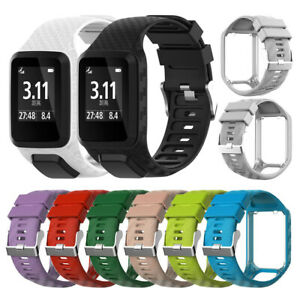 Replacement-Silicone-WatchBand-Strap-for-TomTom-Runner2-3-Spark-3-Adventurer-GPS
