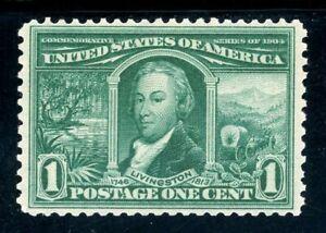 USAstamps-Unused-VF-US-1904-Louisiana-Purchase-Scott-323-OG-MNH