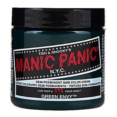 MANIC PANIC Classic Cream Green Envy™ Semi-Permanent 4 oz Vegan Hair Dye.