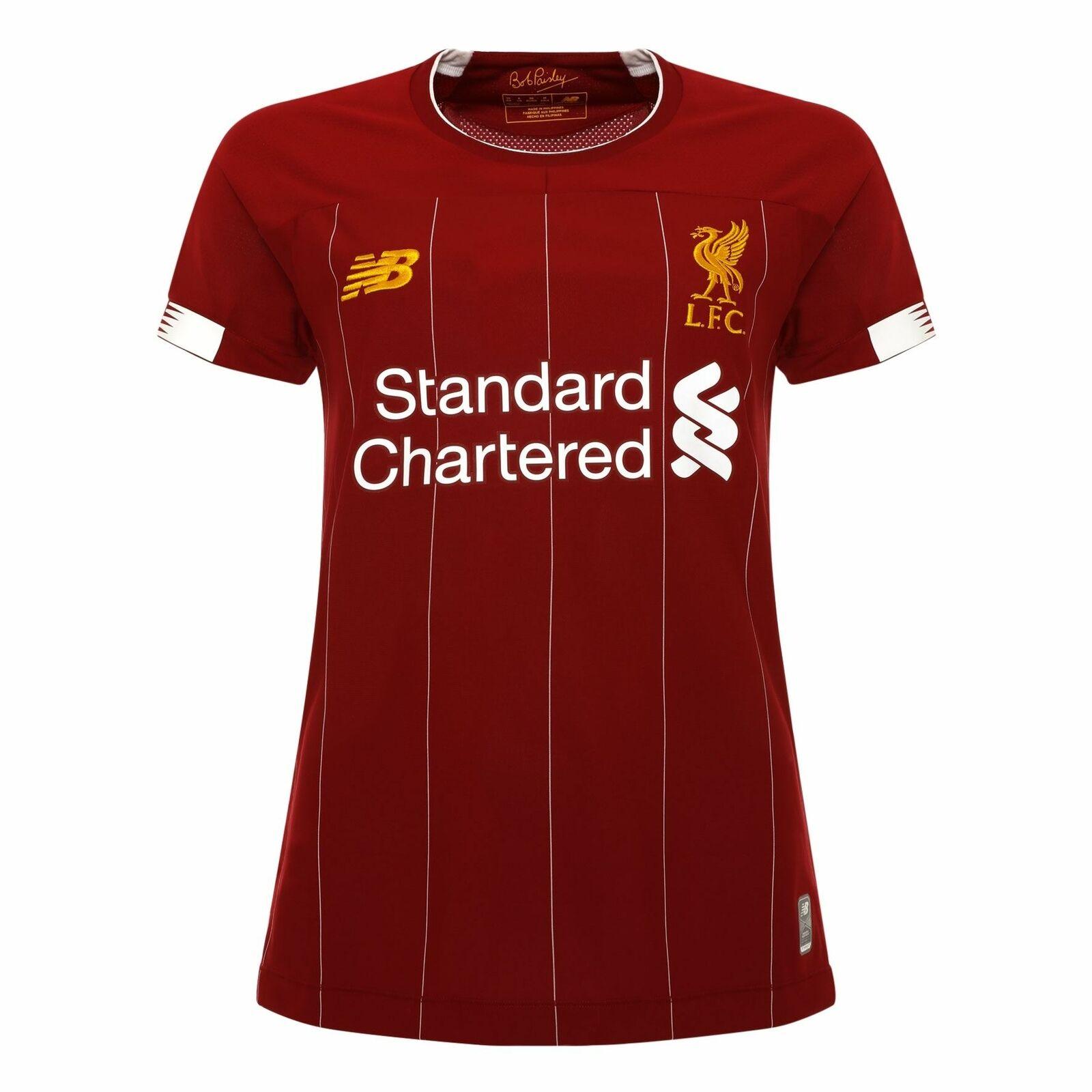 Liverpool FC Home Kit Rojo  Poliéster para Mujer Camiseta De Fútbol Oficial LFC 19 20  alta calidad y envío rápido
