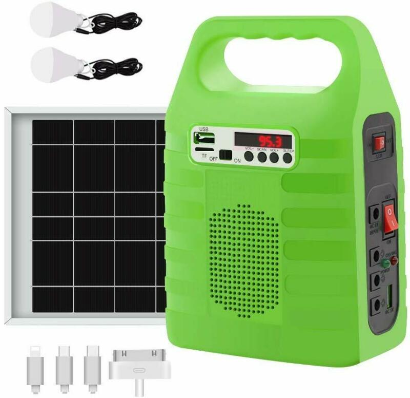 Solar Power Panel Generator Energy Storage USB Charger Syste