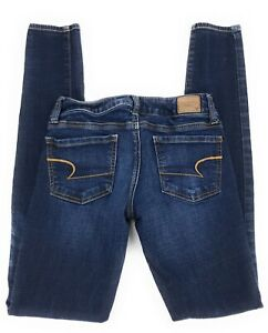 American-Eagle-Super-Stretch-Jegging-Low-Rise-Distressed-Jeans-Women-039-s-2L