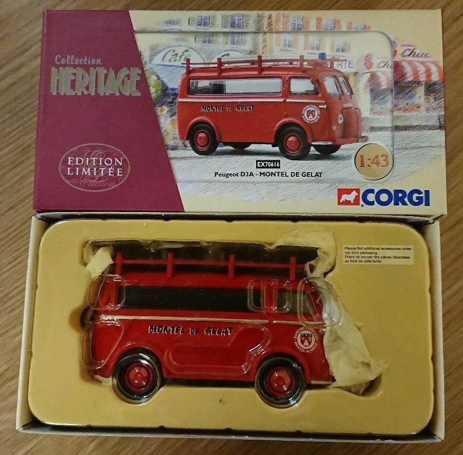 Corgi EX70616 Peugeot D3A MONTEL de GELAT Ltd Edition No 0004 of 4000