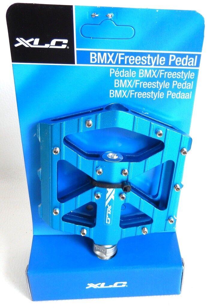 PAAR VON PEDALE BMX / FREESTYLE XLC BLAU GEWINDE 9/16 NEU