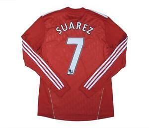 Liverpool 2010-12 ORIGINALE HOME SHIRT SUAREZ #7 (eccellente) M SOCCER JERSEY