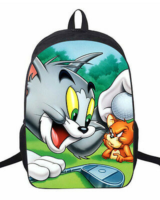 Tom and Jerry big head OEM oxford Backpack Shoulder Bag 2 size L350 BAG