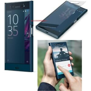 Genuine Sony Xperia XZ Flip Case smart phone clear touch style view wallet cover
