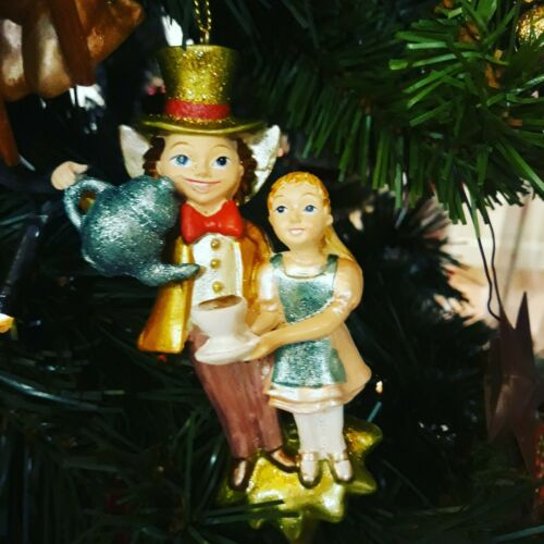 Alice and Mad Hatter Tree Decoration