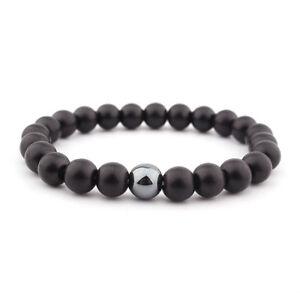 1PC-Mens-Matte-Black-Onyx-Yoga-Energy-Beaded-Bracelet-Boyfriend-Gift-for-Him