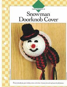 Snowman Doorknob Cover Crochet Single Pattern Vanna White